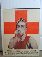 Large Aunthentic War Era Canadian Jr. Red Cross Poster