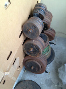 Cast iron York plates free weights Barbell weight lifting streng
