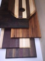 Cutting boards, butcher blocks and hardwood counter tops.