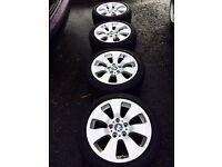 "17"" BMW alloys with good tyres!"
