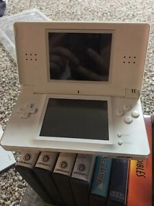 Nintendo DS with carrying case and 6 games