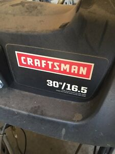 "30"" craftsman snowblower hardly ever used"
