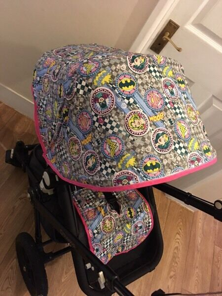 Custom made marvel hood and liner for Bugaboo Cameleon 1,2,3