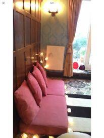 Large Burgundy Seating Cushions/ Cushion Pads - Set of 6