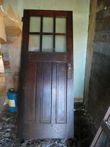 antique wood door