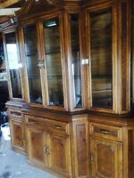 Large Buffet and Hutch/display cabinet