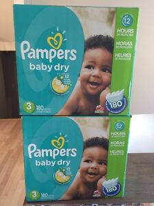 Couches Pampers baby dry