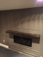 FIREPLACE MANTELS - MADE FROM ANTIQUE WOOD FROM A DISTILLERY