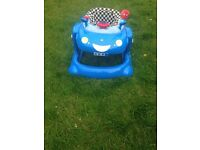 Mothercare Blue Car Walker - RRP £99 Great Conditon