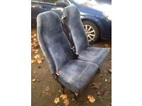 Double seat with working belts from a Vauxhall Vivaro