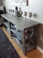 Rustic Farmhouse Side Tables HANDCRAFTED