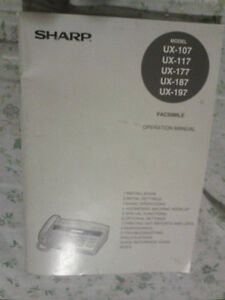 Sharp UX-107 Fax/phone machine with box/manual $45 Peterborough Peterborough Area image 2