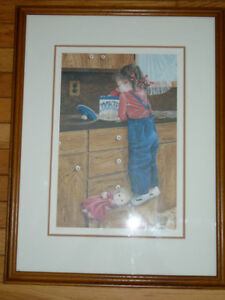 Limited Edition Framed Print (Little Girl) Belleville Belleville Area image 1