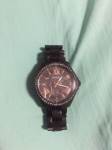 FOSSIL CECILE STAINLESS STEEL WATCH BLACK (female) Cambridge Kitchener Area image 1