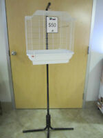 Bird cage with stand for sale!