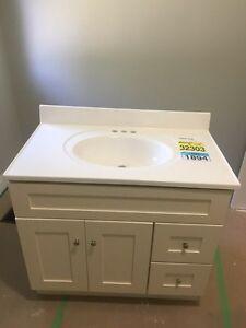 """Bathroom Vanity 36"""" wide.  White"""