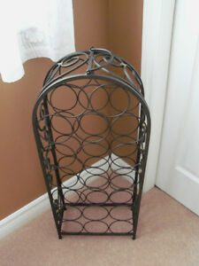 **** NEW - ELEGANT DESIGN  WINE STAND WITH HANDLE**** Stratford Kitchener Area image 1