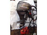 Tohatsu outboard short shaft electric start on remotes as new