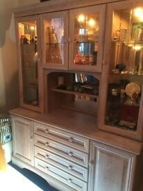 Dispay Unit / Dresser in Limed Oak