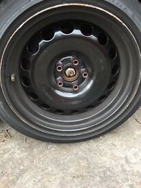 Steal banded wheels swap for alloys