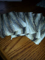 Knitted and crocheted dish cloths