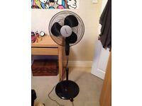 Honeywell black 3 speed adjustable angle fan