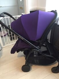Icandy raspberry pushchair in black & purple £250 or swap for black frame bugaboo bee3 can post