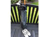 Half Golf Set! Clubs, Bag, Umberella, Shoes, Golf Balls