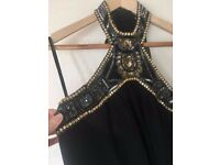 Super Flattering Evening 'One-Off' Black Silk Dress