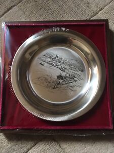 A.Y. Jackson Collector's Sterling Silver Plate 1975