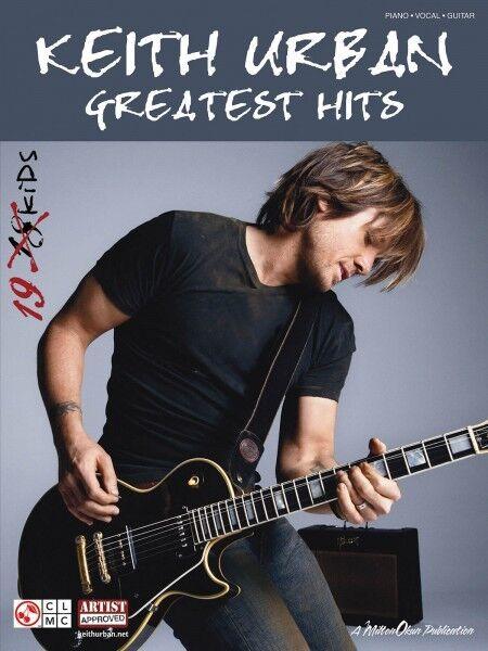 Keith Urban Greatest Hits Piano Sheet Music Guitar Chords 19 Songs ...