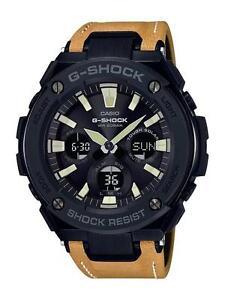 CASIO-G-SHOCK-G-STEEL-GSTS120L-1B-GST-S120L-1B-SOLAR-LEATHER-BAND-GREEN-LIGHT
