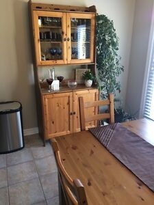 Kitchen Table + 8 chairs + Cabinet London Ontario image 3