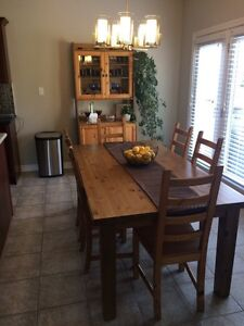 Kitchen Table + 8 chairs + Cabinet London Ontario image 1