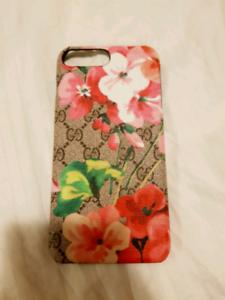 Gucci iPhone 7 Plus 8 Plus Flowers Phone Case
