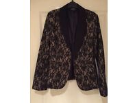 Lovely black and gold lace evening jacket