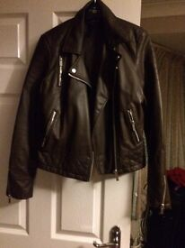 Brown leather jacket size 12