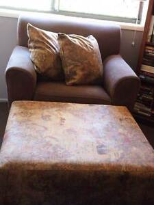 2 seater lounge, arm chair, large pouffe & matching pillows Ferny Grove Brisbane North West Preview