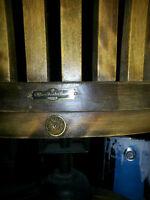 Sale:  H Krug Antique Oak Chaise de bureau