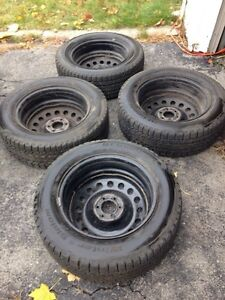 """17"""" snow tires on rims - SOLD"""
