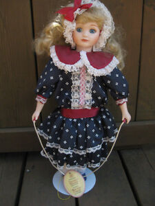 Collectible china doll with skipping rope. Cambridge Kitchener Area image 1