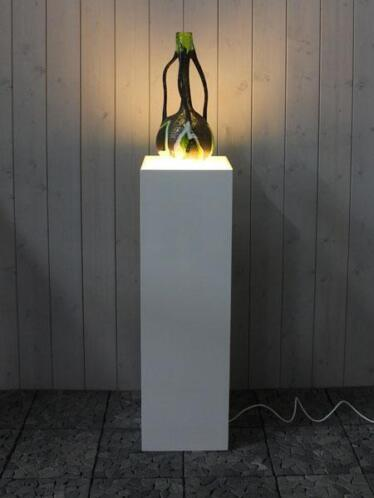 light display pillar in&outdoor indoor and outdoor e27, white synthetic,  140 x 35 cm, 35cm