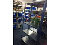 GARAGE OR WAREHOUSE BOLT LESS RACKING - 5 SHELVES