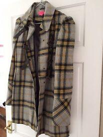 Monsoon tartan coat size 12. Like new