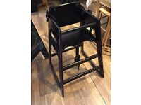 WOODEN HIGH CHAIR WITH HARNESS