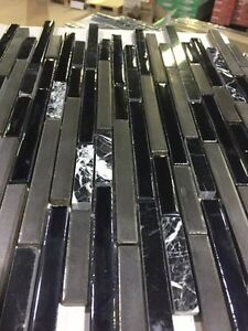 Glass stone linear backsplash LIMITED TIME $5.99