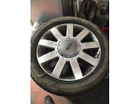 "Ford 4 stud 15"" alloys 4x108 fiesta focus etc etc 195/50/15 tyres all good tread"