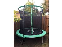 8ft Trampoline with safety net.