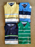 4 Brand New Authentic Tommy Hilfiger Mens Polo Shirts - Medium