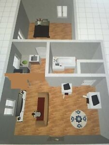 1 bedroom apartment 575$ heating and lighting included !renover!